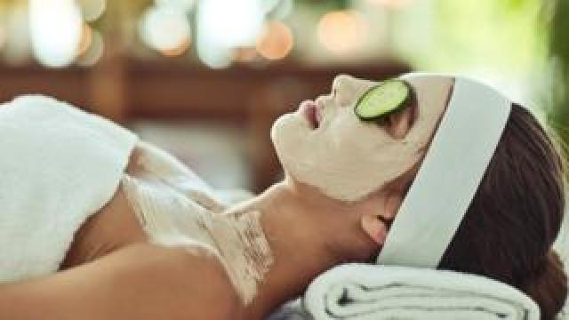 Woman in health spa