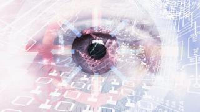 Conceptual computer artwork of a human eye