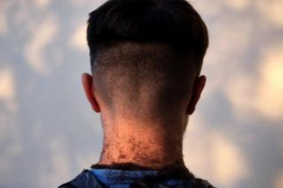 Back of boy's head after haircut
