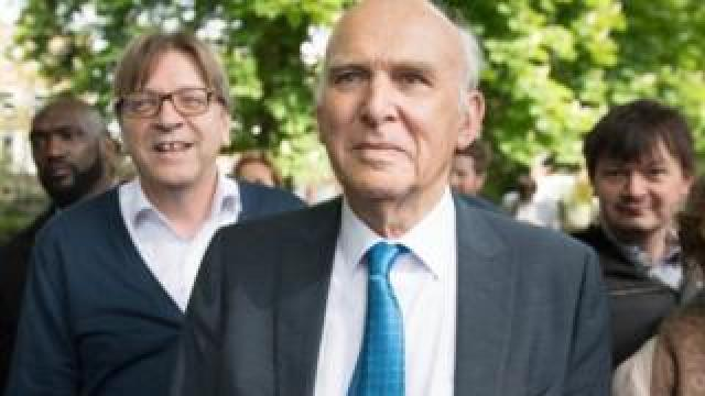 Vince Cable with Guy Verhofstadt