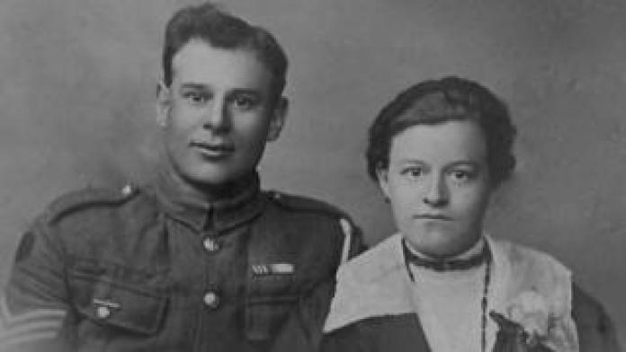 Sgt Jack Payne and Emilie Timmermans