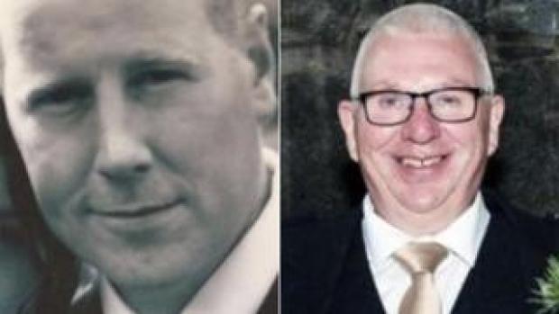 Brett McCullough (left) and Donald Dinnie