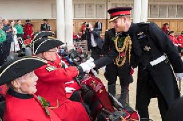 Prince Harry at Royal Hospital Chelsea in London