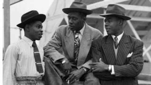 Immigrants on board the 'Empire Windrush'
