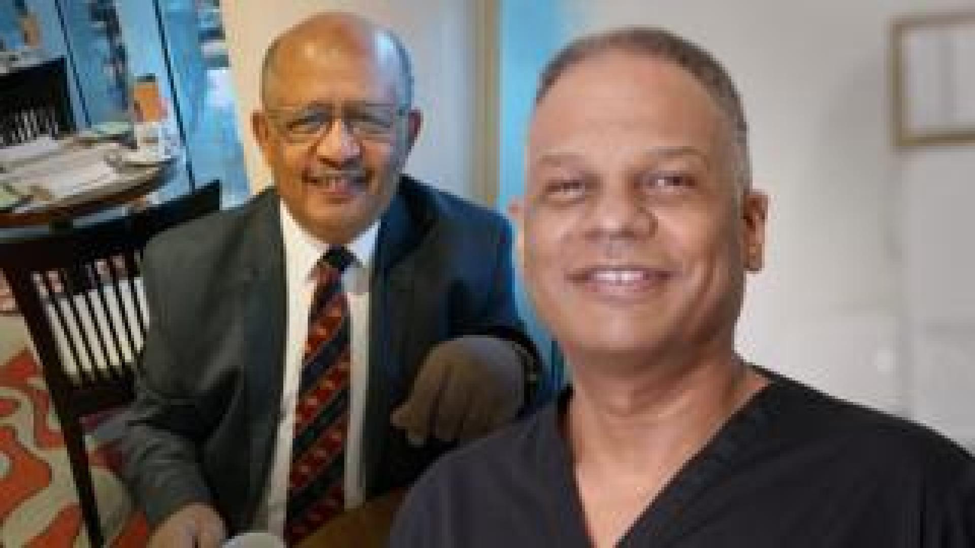 Adil El Tayar (left) and Amged El-Hawrani