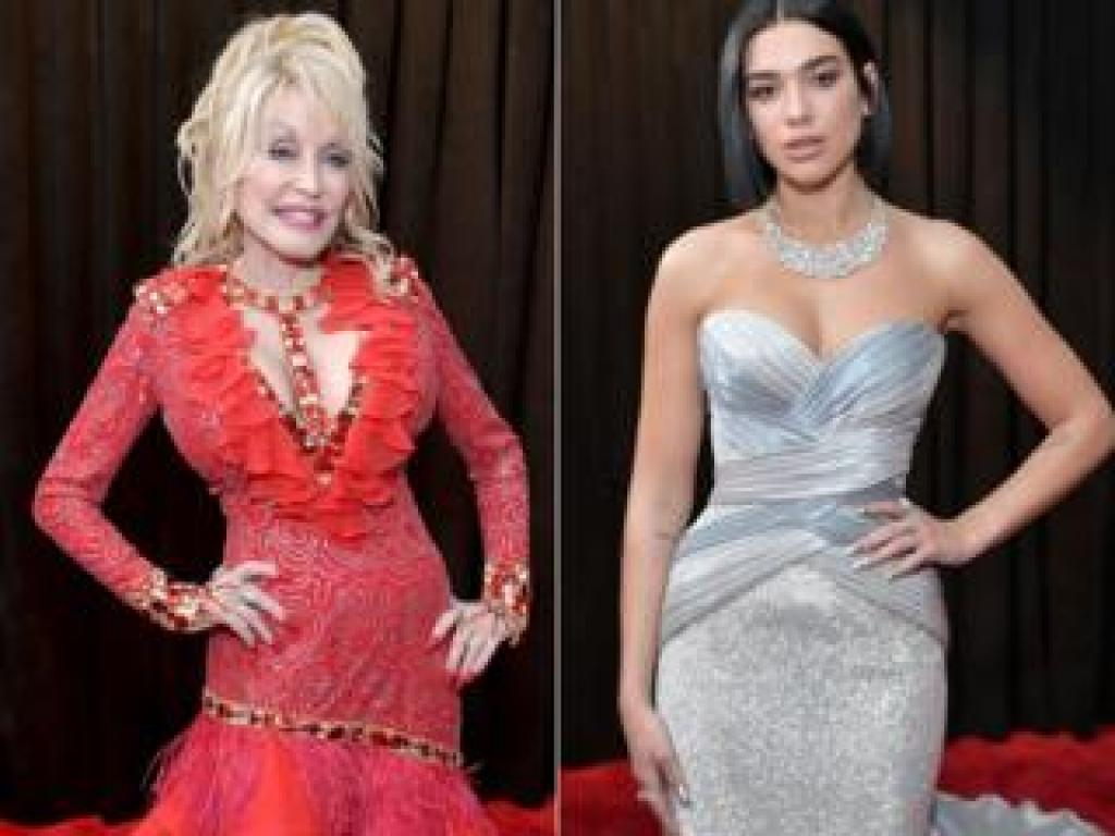Dolly Parton and Dua Lipa