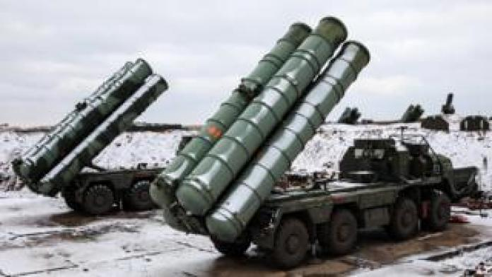 Russian S-400s on the Crimean peninsula in Ukraine. Picture: November 2018