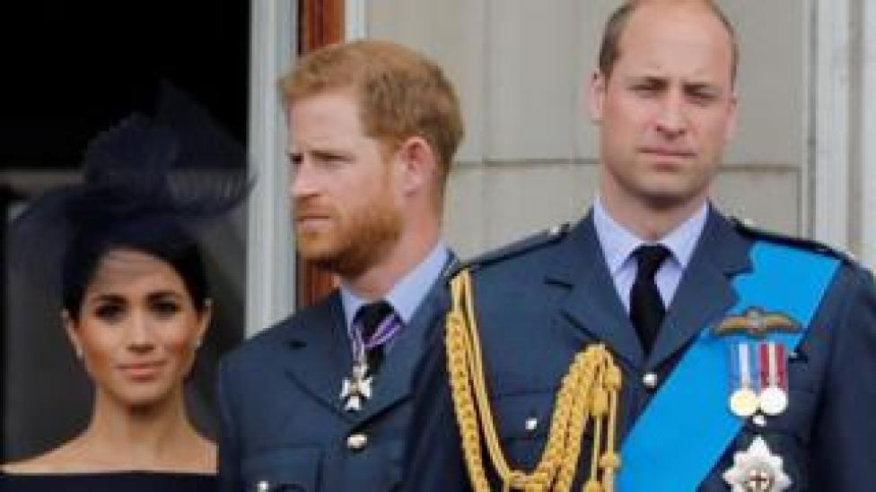 Meghan, Prince Harry and Prince William