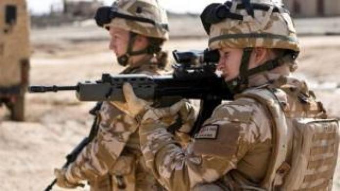 Female British soldier in Afghanistan