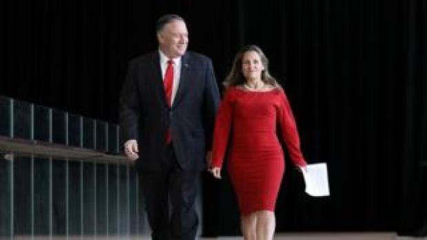 US Secretary of State Mike Pompeo and Canada Foreign Minister Chrystia Freeland
