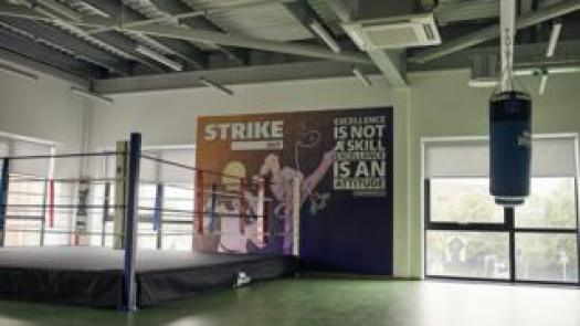 Boxing ring at Hide Out Youth Zone