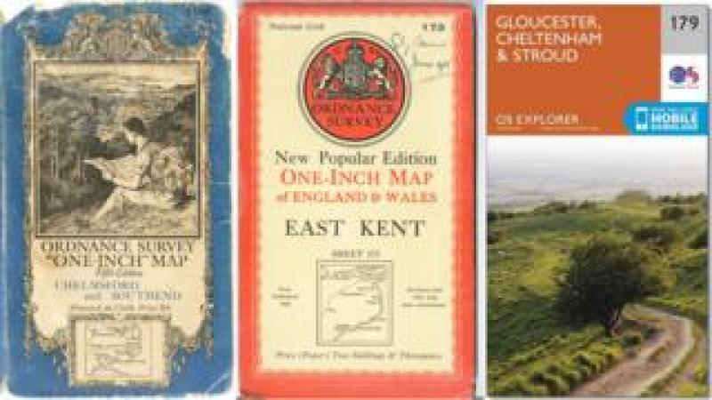 Ordnance Survey maps from different times