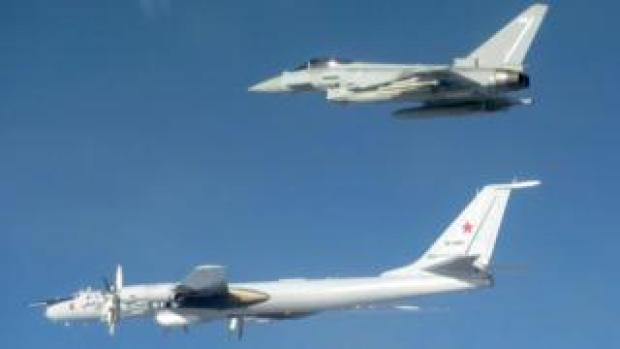 RAF and Russian aircraft