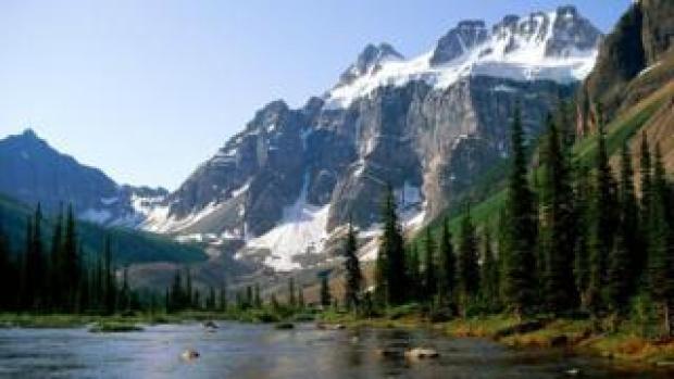 Lake Consolation and mountain, Banff