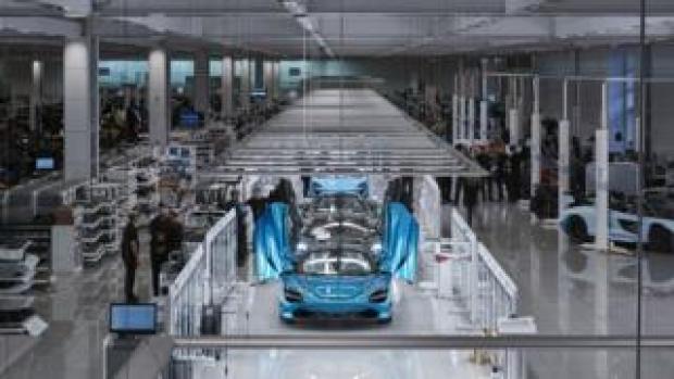 McLaren production line