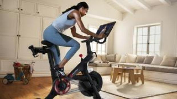 A picture of a Peloton exercise bicycle.