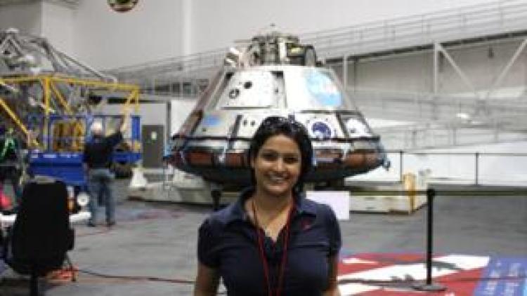 Dr Varsha Jain at the Johnson Space Center