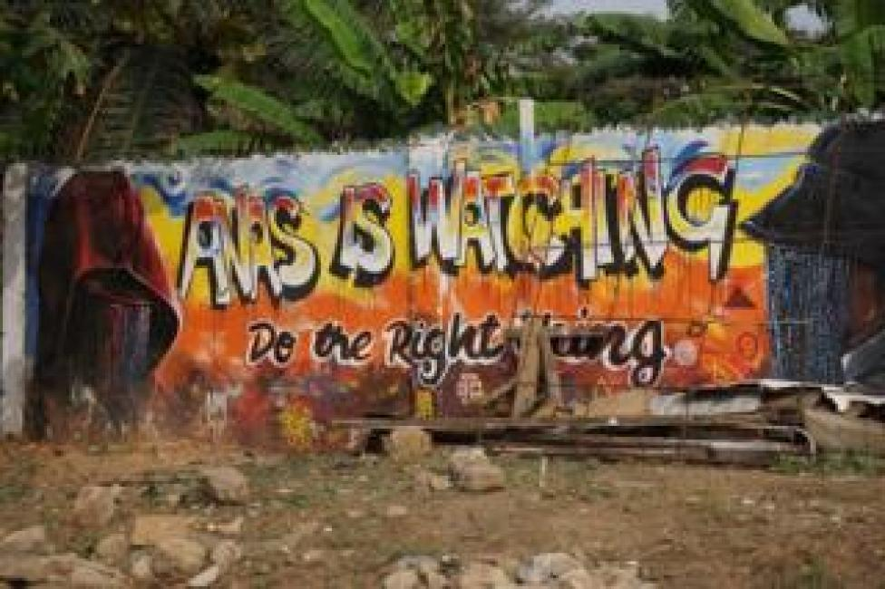 Graffiti in the Ghanaian capital, Accra