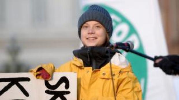Greta Thunberg in Turin on 13 December
