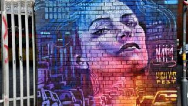 Street art by N4T4