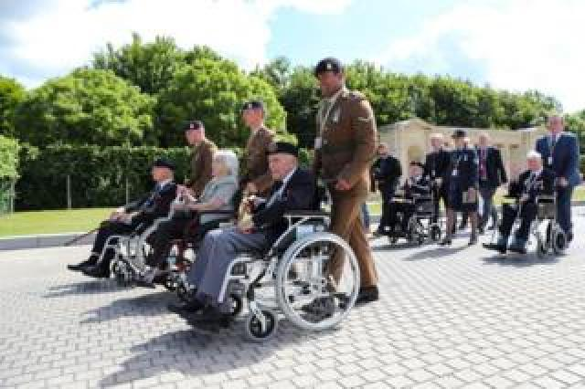 Commemorations service at the war cemetery in Bayeux