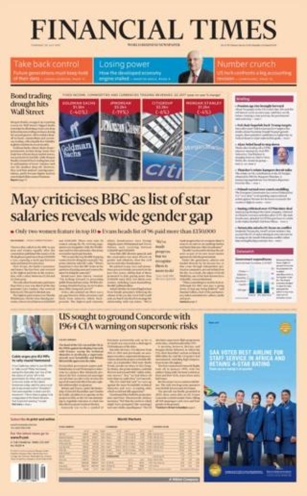 Financial Times front page