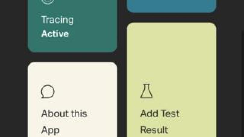A screengrab from the StopCOVID NI app