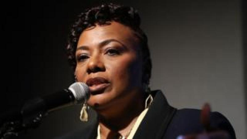 Rev. Dr. Bernice King, daughter of Dr. Martin Luther King, Jr. speaks as she visits the National Civil Rights Museum as they prepare for the 50th anniversary of her father's assassination on April 2, 2018 in Memphis, Tennessee.