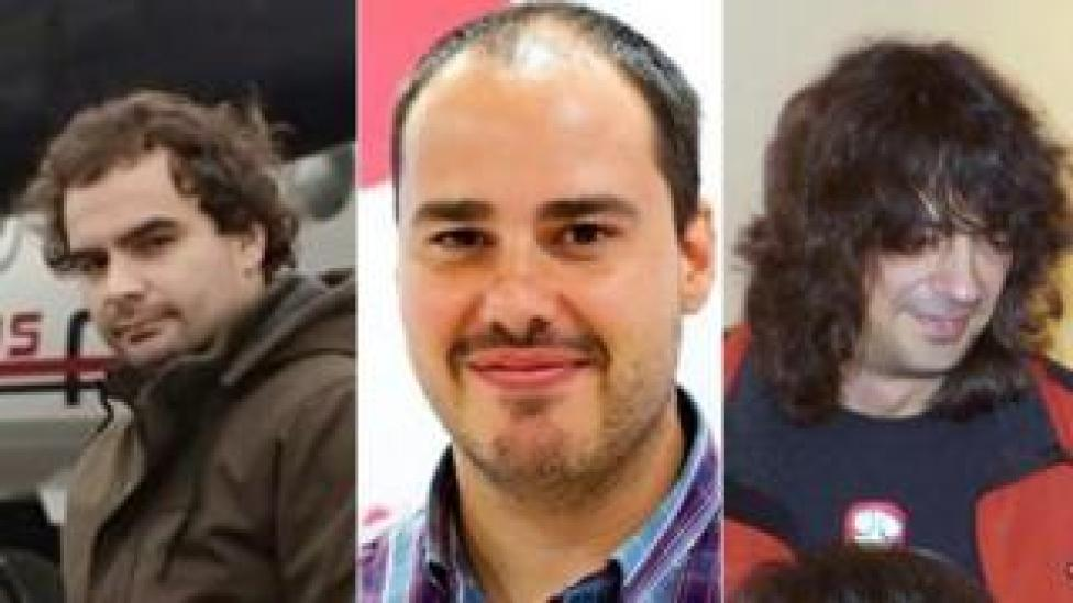 combination image of file photos of three journalists
