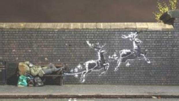 The Banksy artwork