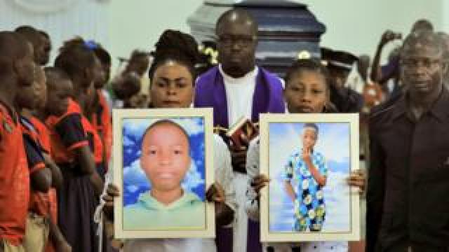 The funeral service for Barthelemy Laurent Guibahi Ani in Abidjan, Ivory Coast - Friday 28 February 2020