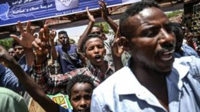 Protesters have continued to stage a sit-in in central Khartoum
