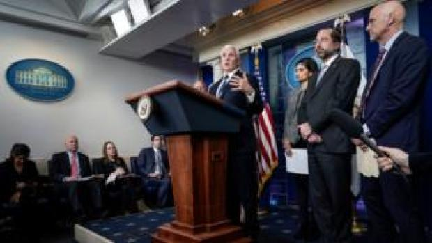 Mike Pence holds press conference on coronavirus