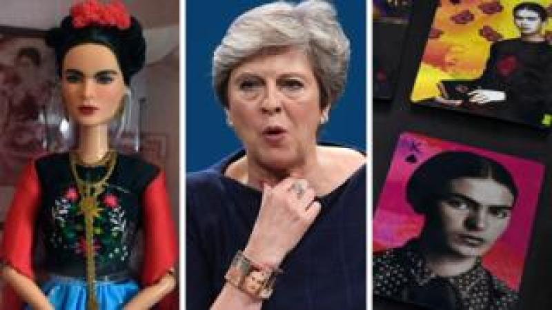 Frida Kahlo has featured as a Barbie doll, on Theresa May's bracelet and on playing cards
