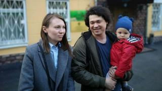 Olga and Dmitry Prokazov and their son