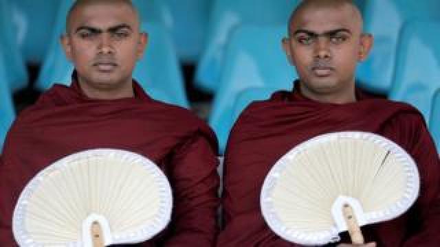 Buddhist monks Padiyapalalle Sugathasara and Padiyapalalle Vipulasara