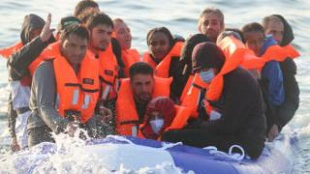 Migrants off Dover