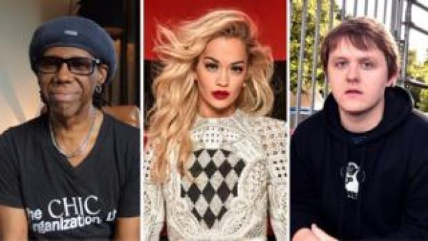 Nile Rodgers, Rita Ora and Lewis Capaldi