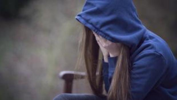 Worried teenager - generic stock image