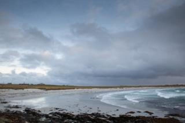 Windy beach Ronaldsay