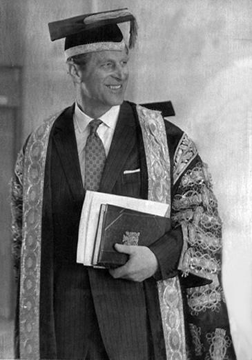The Duke of Edinburgh at Aberystwyth in 1973