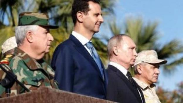 شام کے صدر بشار الاسد اور روسی صدر ولادمیر پوتن