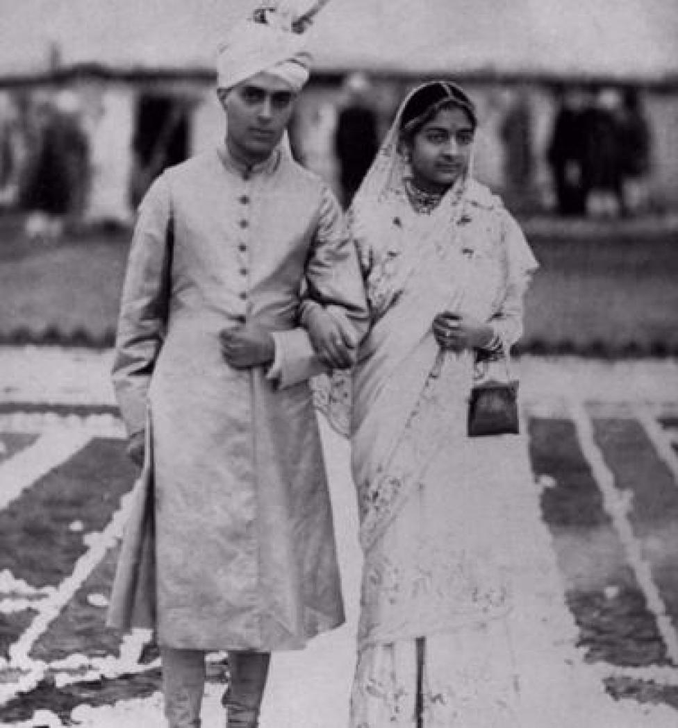 जवाहरलाल नेहरू और कमला नेहरू
