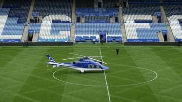 Leicester City owner's helicopter