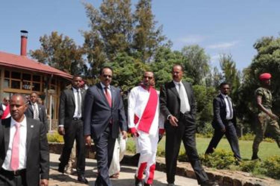 Madaxweynaha Soomaaliya Maxamed Cabdullaahi Farmaajo, Ra'iisul wasaaraha Itoobiya Abiy Axmed iyo Madaxweynaha Eritrea Isaias Afwerki