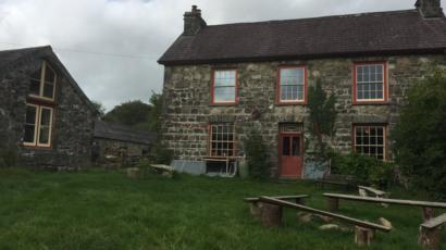 The farmhouse at Brithdir Mawr