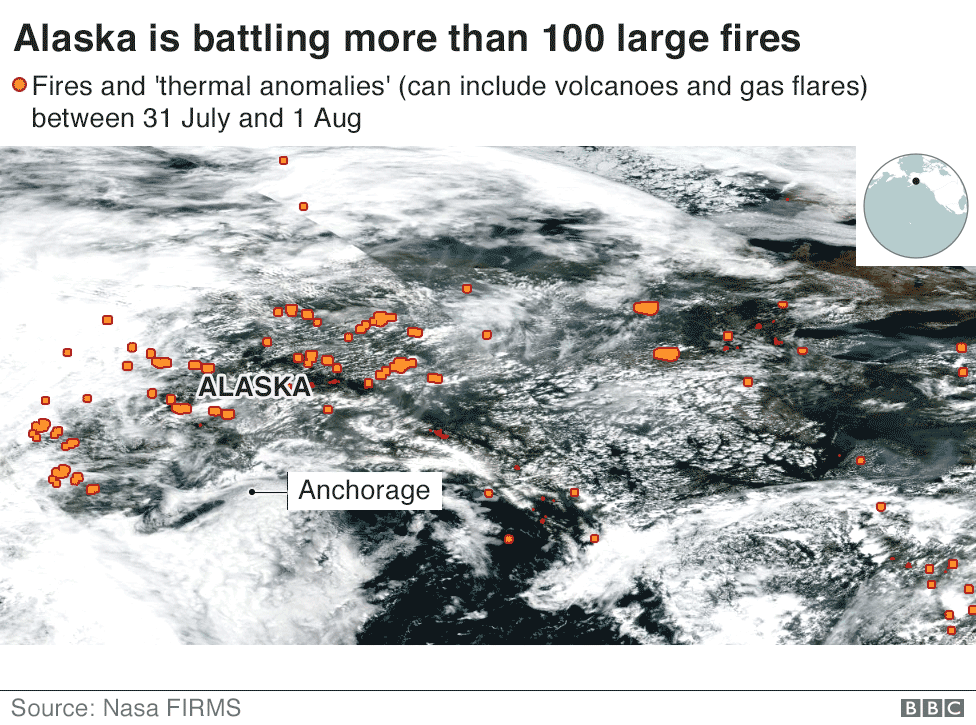 Arctic wildfires: How bad are they and what caused them? - BBC News