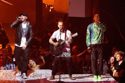 Bliss n Eso perform live during the 27th Annual ARIA Awards 2013 at the Star on 1 December 2013 in Sydney, Australia.