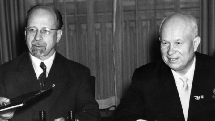 Walter Ulbricht e Nikita Khrushchev