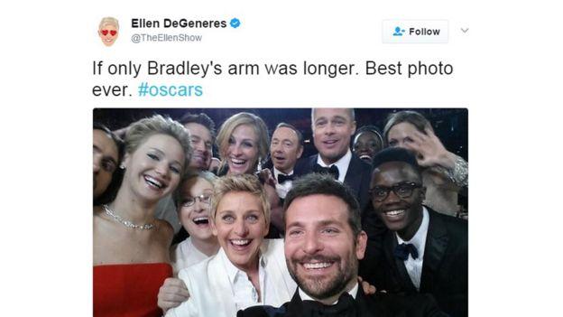 The 2014 Oscars selfie from Ellen DeGeneres